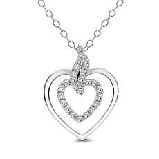 Diamond Couture 14K Gold 0.2ctw Diamond Heart-Shaped Pendant