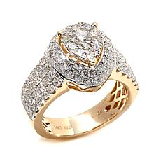Diamond Couture 2ctw Diamond Pear-Shaped 14K Yellow Ring