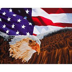 Diamond Dotz Diamond Embroidery Facet Art Kit - Bald Eagle and Flag