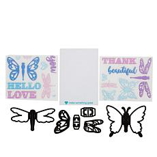 Diamond Press Flutter Pop-Up Stamps and Dies