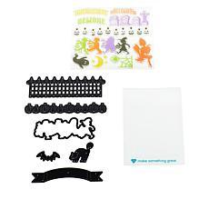 Diamond Press Halloween Season Border Stamp and Die Kit