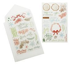 Diamond Press Holiday Wishes Stamp Kit