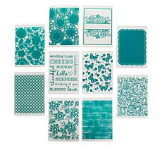Diamond Press Set of 10 Floral Embossing Folders