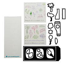 Diamond Press Slimline Summer Shadow Box Stamp and Die Set