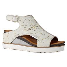 Diba True Get Along Leather Wedge Sandal