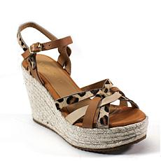 Diba True Home Plate Leather Wedge Platform Sandal