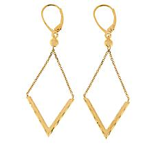 Dieci 10K Gold Diamond-Shaped Dangle Earrings