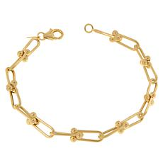 Dieci 10K Gold Electroform Ball-Accented Chain Bracelet