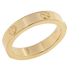 Dieci 10K Gold Electroform Diamond-Cut Accent 4mm Band Ring