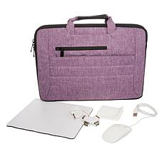 "Digital Basics 14"" 2-in-1 Laptop Sleeve with Mouse and Accessories"