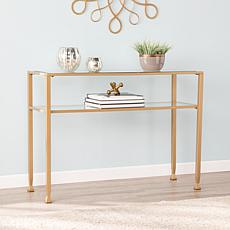 Dina Metal/Glass Console - Gold