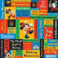 Disney® Collection Mickey Phrases Paper Pack - 12 x 12