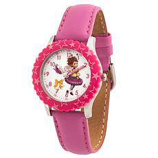Disney Fancy Nancy Kid's Pink Leather Watch