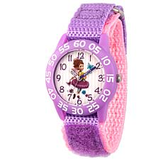 Disney Fancy Nancy Kid's Purple Strap Watch - Purple Bezel