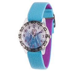 Disney Frozen 2 Elsa  Kids' Clear Watch with Reversible  Strap