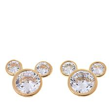 Disney Kids 14k Mickey Mouse Cz Stud Earrings