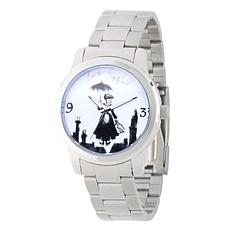 Disney Mary Poppins Women's Silver Alloy Watch with Steel Bracelet