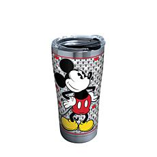 Disney Mickey Mouse Silver 20 oz Stainless Steel Tumbler with lid