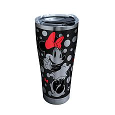 Disney Minnie Mouse Silver 30 oz Stainless Steel Tumbler with lid