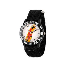 "Disney ""Mr. Incredible"" Kid's Black Strap Time-Teacher Watch"