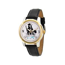 Disney Pirates of the Caribbean Leather Strap Watch