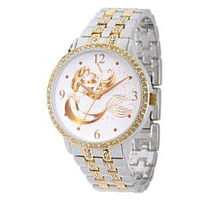 Disney Princess Ariel Women's Alloy Glitz Watch w/ Two Tone Bracelet