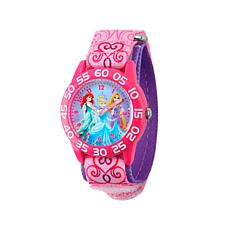 Disney Princess Kid's Pink and Purple Strap Time-Teacher Watch