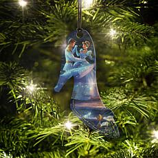 Disney Thomas Kinkade Cinderella Dance Slipper-Shaped Hanging Acrylic