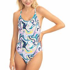 Dolfin Uglies Revibe  Print Low X-Back One-Piece Swimsuit