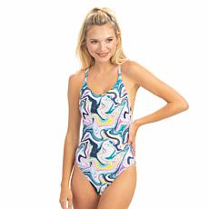 Dolfin Uglies Revibe  Print Low X-Back One-Piece Swimsuit