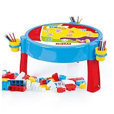 Dolu Toys 2-in-1 Activity Table with 100 Jumbo Blocks