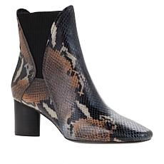 Donald J. Pliner Austen Pull-On Snake-Embossed Leather Bootie