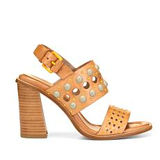 Donald J. Pliner Estee Beaded Leather Block-Heel Sandal