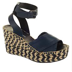 Donald J. Pliner Ines Fringed Leather Espadrille Wedge Sandal