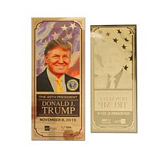Donald Trump 45th President 1/10th Gram 24K Gold Aurum