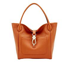 Dooney & Bourke Belvedere Leather Logo Lock Tote