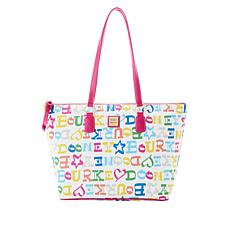 Dooney & Bourke Doodle Wren Coated Cotton Zip Tote