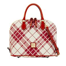 Dooney & Bourke Harding Zip Zip Plaid Satchel