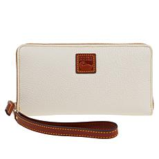 Dooney & Bourke Pebble Leather Large Zip-Around Wristlet
