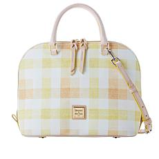 Dooney & Bourke Quadretto Check Zip-Zip Satchel