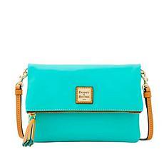 Dooney & Bourke Smooth Leather Foldover Crossbody Bag