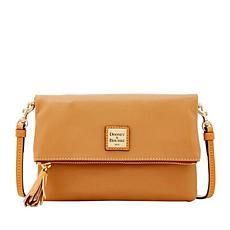 Dooney & Bourke Smooth Leather Foldover Crossbody Bag