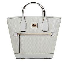 Dooney & Bourke Woven Leather Small Convertible Tote  - White