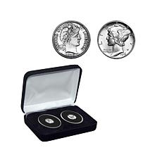 Double-Dated 1916 Barber and Mercury Dime Coin Set