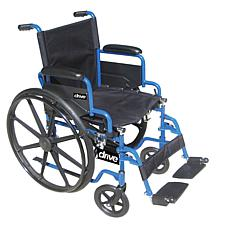 "Drive Medical Blue Streak Wheelchair w/ Swing Away Footrests, 18"" Seat"