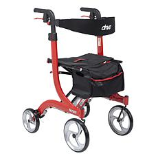 Drive Medical Nitro Euro Style Rollator Rolling Walker, Tall