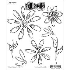 Dyan Reaveley's Dylusions Cling Stamp Collections 8.5X7 - Fancy Floral