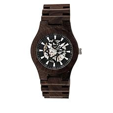 Earth Wood Gobi Skeleton Dial Brown Wood Bracelet Watch