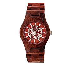 Earth Wood Gobi Skeleton Dial Red Wood Bracelet Watch