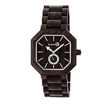"Earth Wood Goods ""Acadia"" Dark Brown Wood Bracelet Watch"